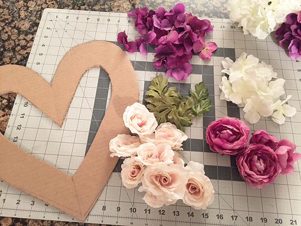 floral heart_flower piles