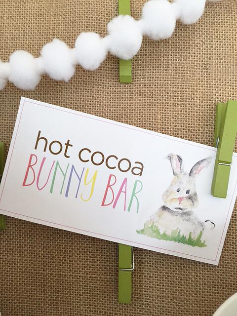hot cocoa bunny bar_sign