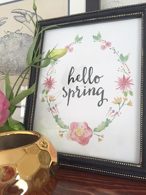 hello spring print 2