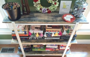 how to revise a bookshelf with distressed wood