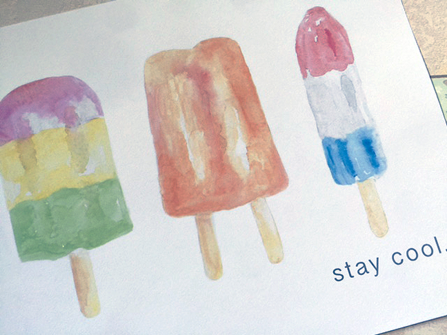 stay cool print detail