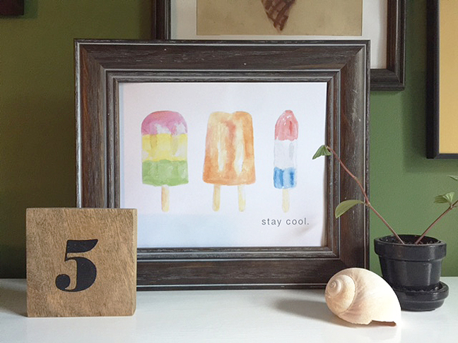 stay cool print framed
