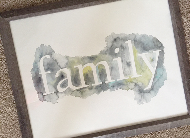 watercolor type_framed