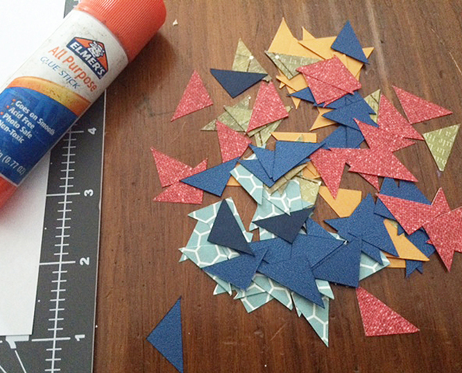 cut paper g triangles