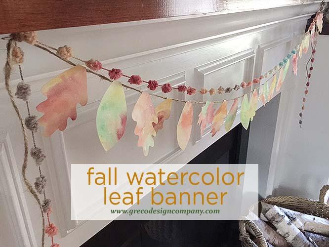 fall favorite - watercolor leaf banner