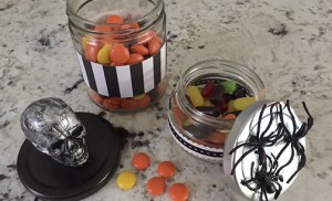 DIY Halloween candy jars