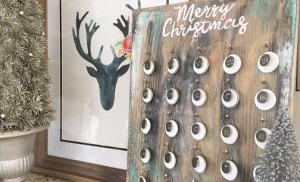 DIY meaningful, rustic style advent calendar