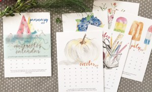 The last of the watercolor calendars – FINAL SALE