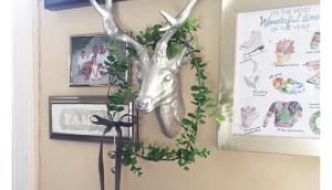 simple faux eucalyptus wreath