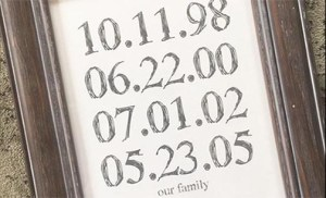 custom date art print
