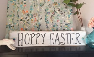 HOPPY EASTER & other handmade wood signs & frames
