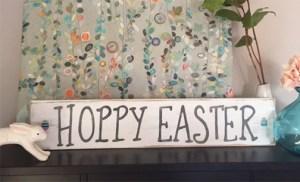 HOPPY EASTER & other handmade wood signs & frames
