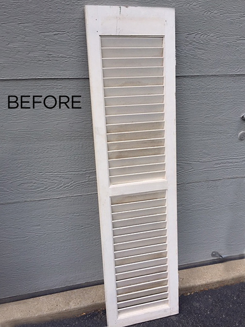 DIY hat hook from an old shutter is just what you need for an inexpensive storage solution and a way to organize all your hats