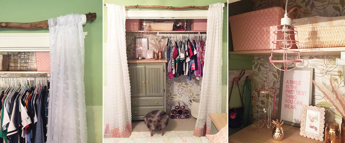 bedroom closet makeover
