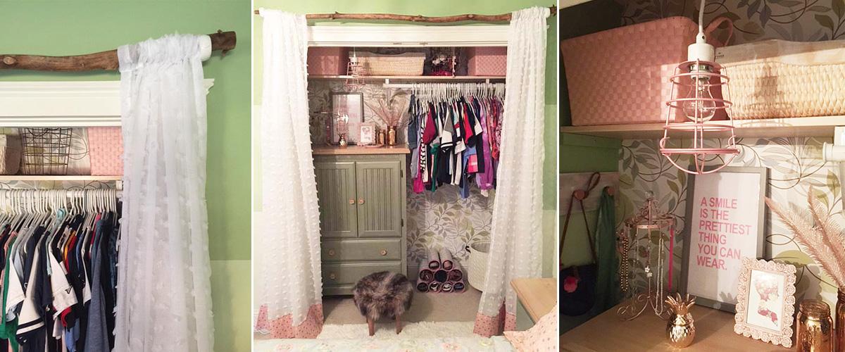 bedroom closet makeover