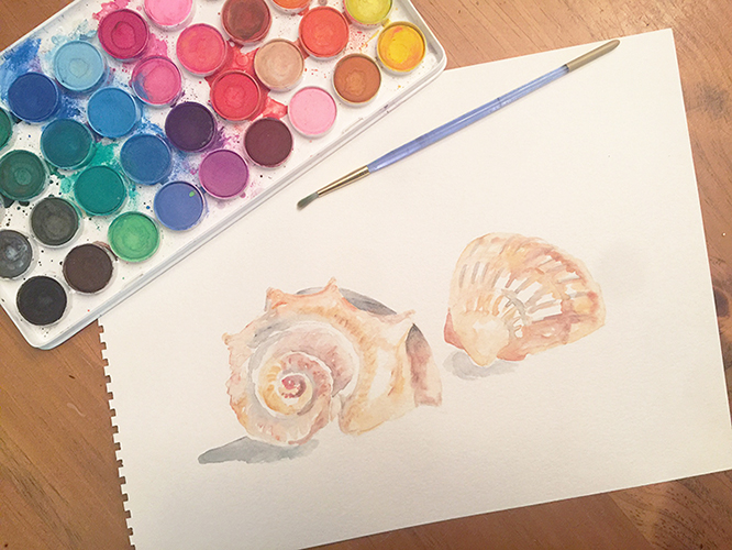 watercolor art for free summer watercolor note cards