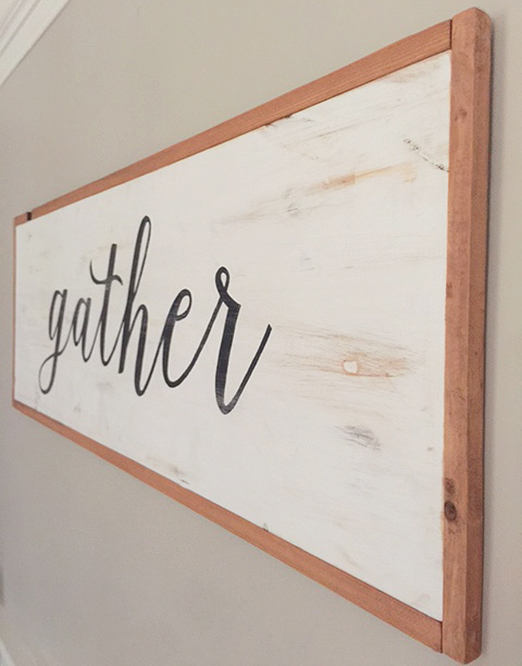 DIY a large wood sign with type
