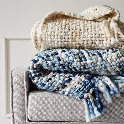 one of my favorite cozy throw blankets for fall from West Elm