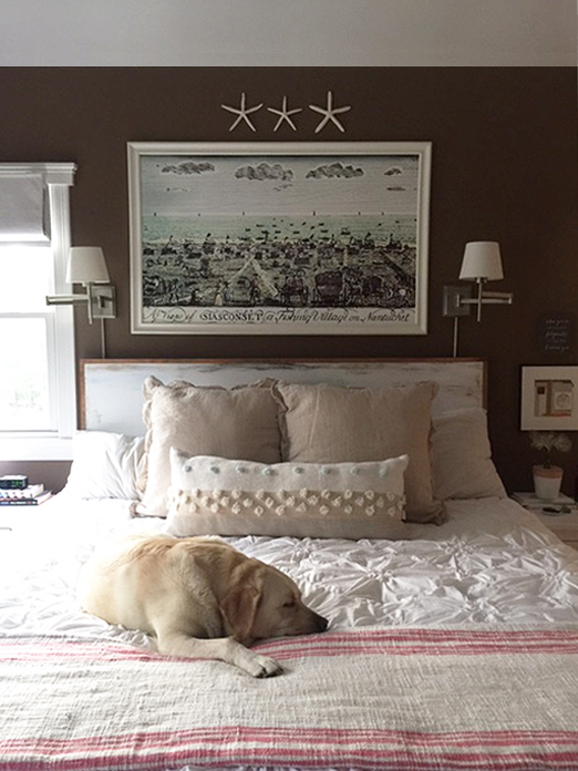 One Room Challenge Week 5 - Bedroom Makeover - Lighting & Artwork & Plants