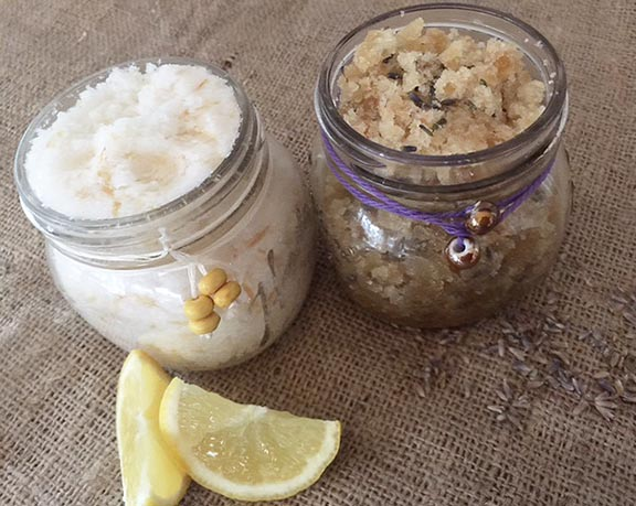 DIY sugar scrubs using essential oils