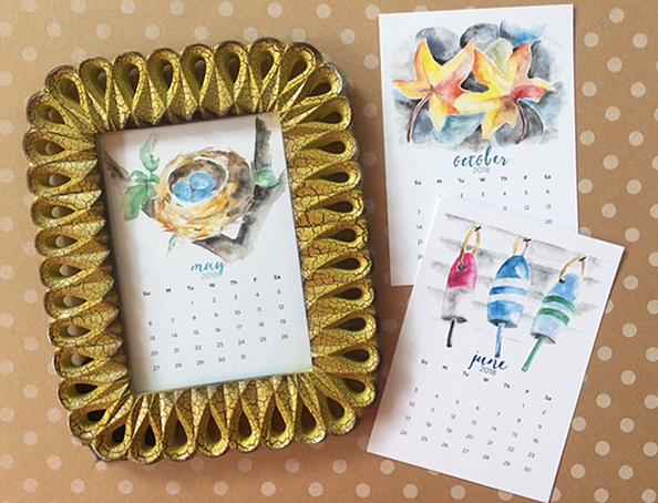 2018 watercolor calendars for sale