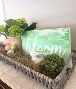 Easter & spring distressed wood signs