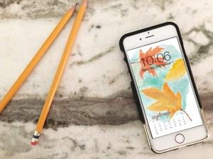 FREE digital backgrounds for September