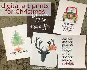digital art prints for Christmas