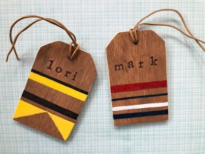 DIY rustic wooden luggage tags