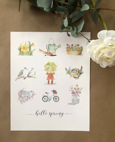 Spring art prints & a freebie