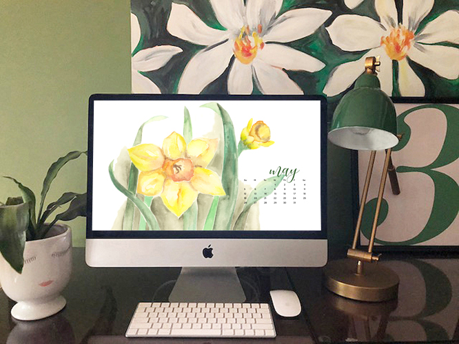 FREE digital backgrounds for May