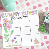 FREE Easter tic-tac-toe printable game