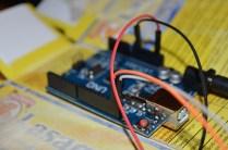 Uno scorcio dei cavi per il display. Per chi ne sa qualcosa di arduino 4 cavi per un display sono davvero poco, questo grazie all'I2C un sistema di comunicazione che riduce notevolmente i collegamenti...