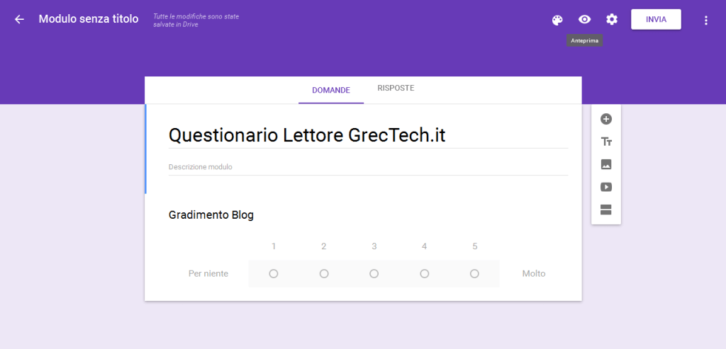 Questionario | GrecTech