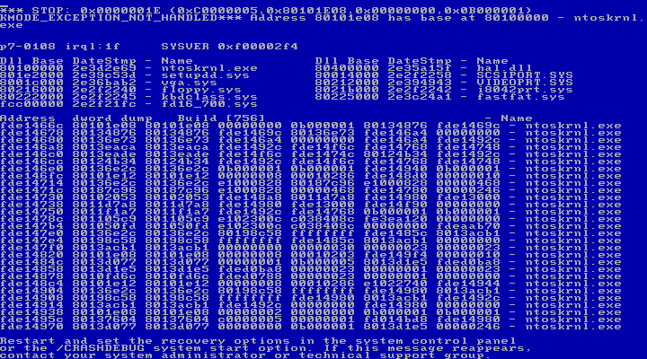 Windows NT 3.5 BSoD | GrecTech