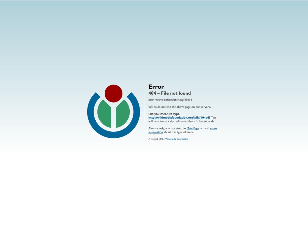 Wikimedia error 404 | GrecTech