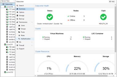 Proxmox VE 4 4 screenshot startpage | GrecTech