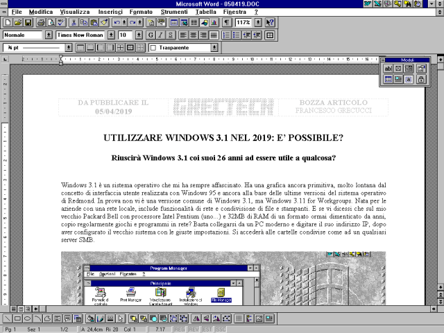 Windows31 Word | GrecTech