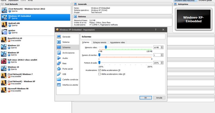 VirtualBox Accelerazione 3D