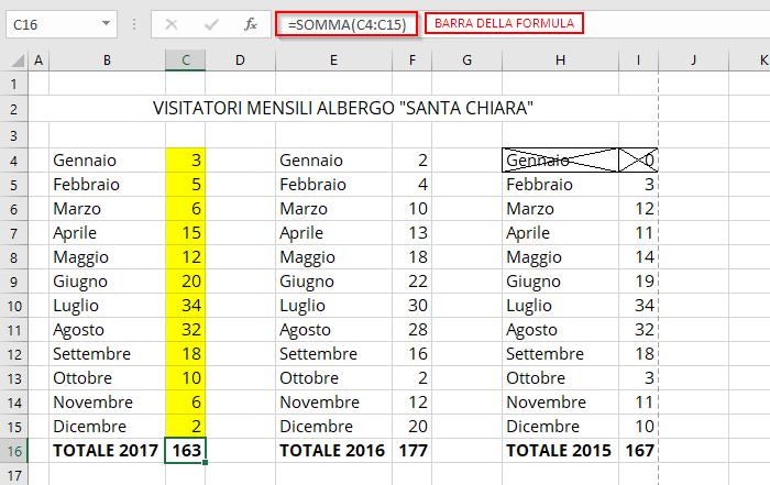 Formule in Microsoft Excel