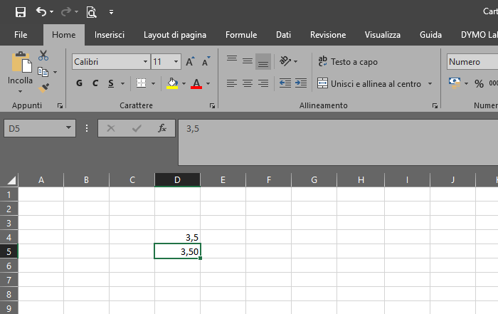 Arrotondamento in Excel