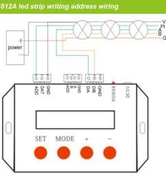 double line dmx512 digital led strip wiring as below  [ 950 x 858 Pixel ]