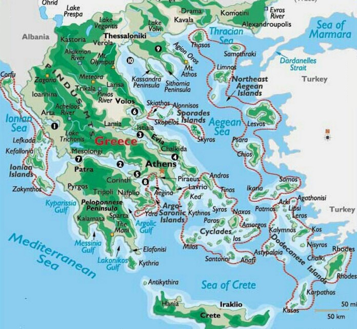 a detailed map of
