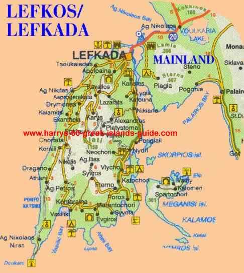 Lefkada Map Gallery