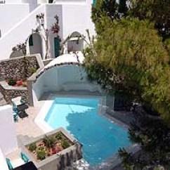 Veranda Living Rooms Bench Room Seating Kastelli Resort Hotel, Kamari, Santorini, Greece