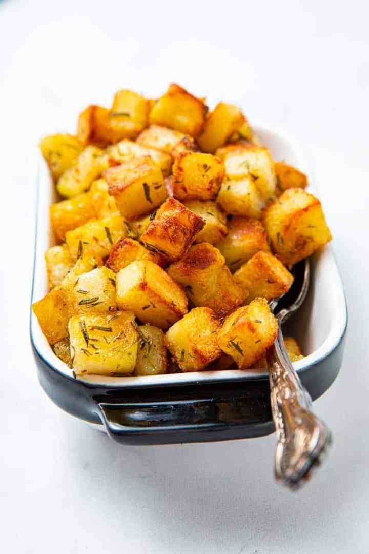 favorite holiday side dishes with roasted French potatoes