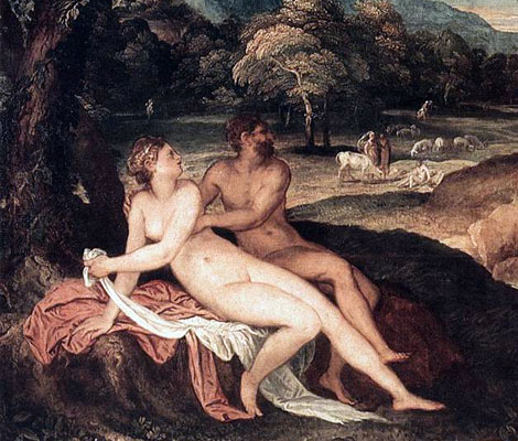 Image result for zeus and nymph