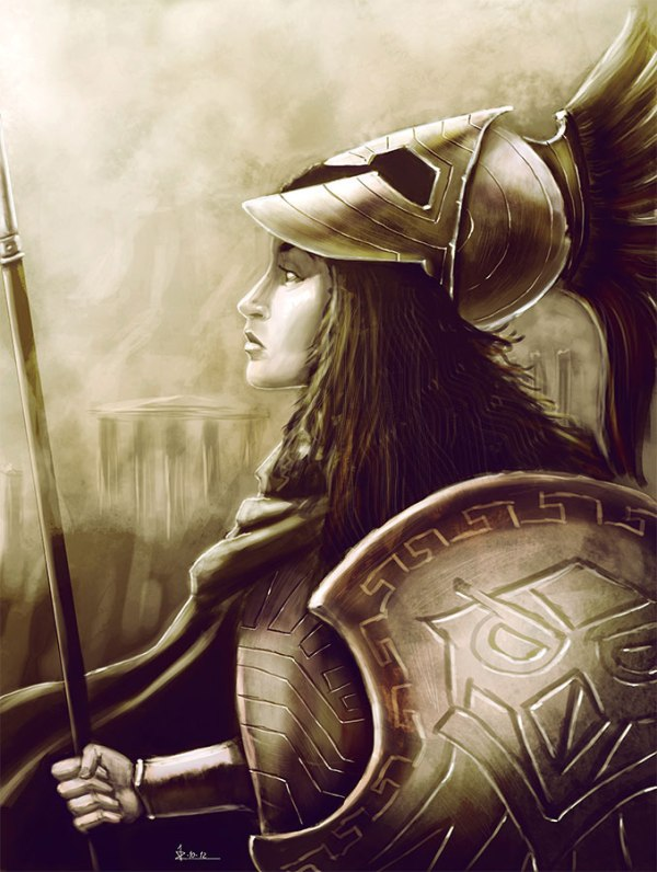 Athena Minerva Greek Goddess of Wisdom and War