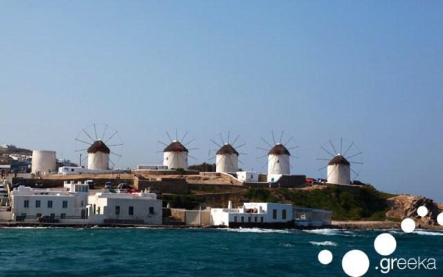 Windmills in Mykonos, Cyclades