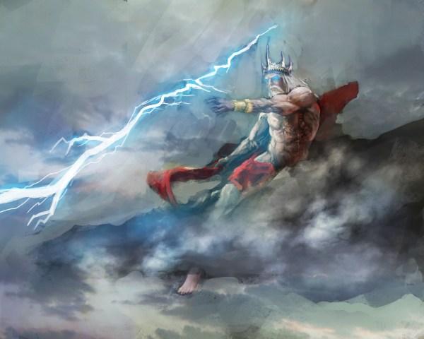 Kronos And Zeus Battle Control Of Universe